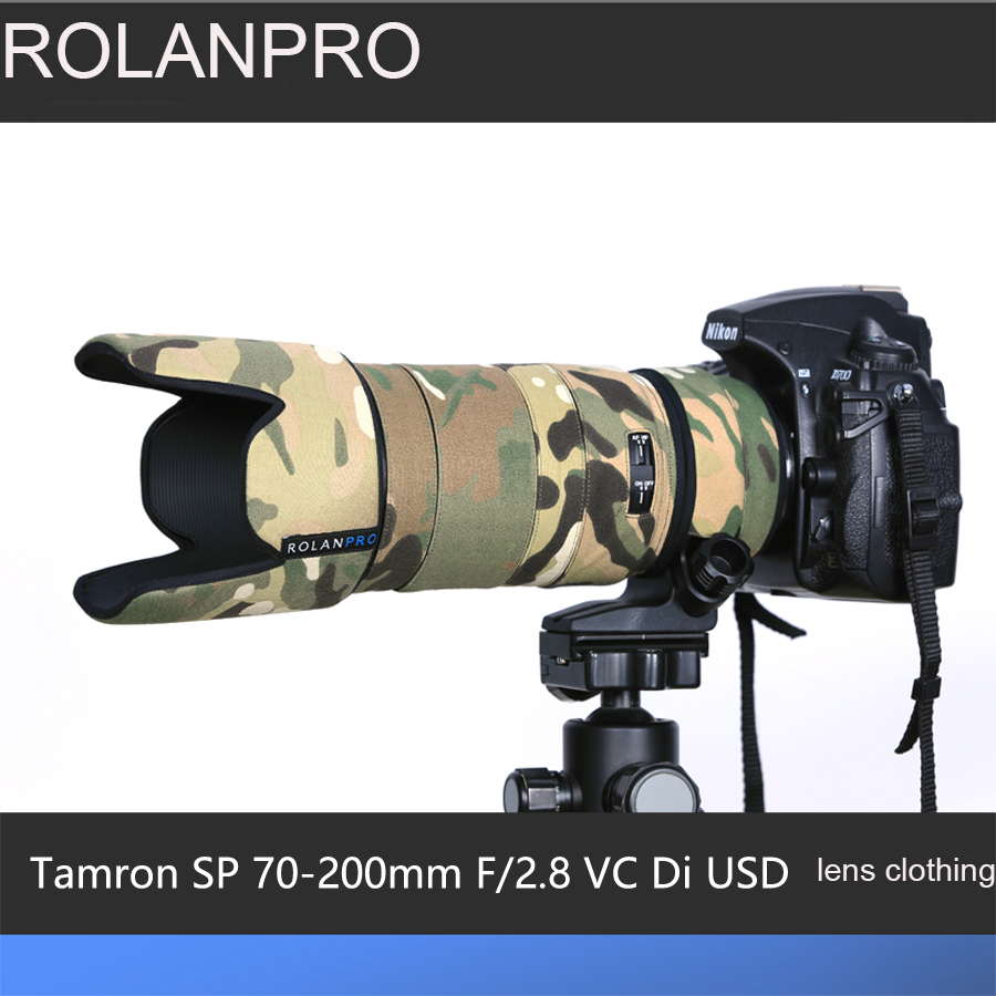 ROLANPRO Lens Camouflage Rain Cover for Tamron SP 70-200mm F2.8 VC Di USD (A009) Lens Protective Case Guns Sleeve Foto Bag guess m72i48 i3z00 a009