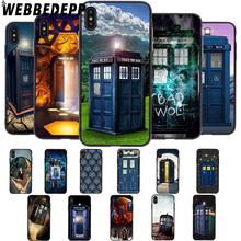 WEBBEDEPP Tardis Box Doctor Who TV Soft Case for iPhone 5 5S 6 6S 7 8 Plus X XS 11 Pro MAX XR Cover цены