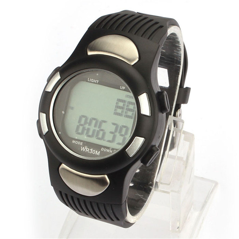 HOT! Fitness 3D Pedometer Calories Counter Sport Watch Pulse Heart Rate Monitor Drop Shipping Y7831 skmei multi functional digital sport watch bluetooth smart watches heart rate pedometer monitor calories counter fitness watch