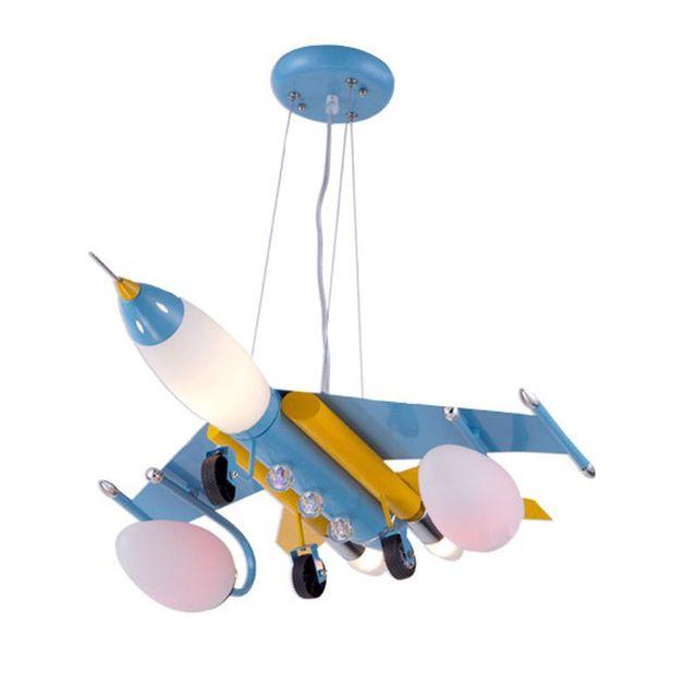 Top Iron Vliegtuig Jongen Kamer Opknoping Lamp Creatieve Kinderkamer YF44