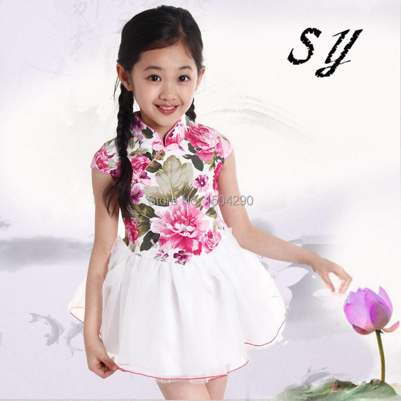 2015 spring kid girl dresses for 6 8 10 years old cotton