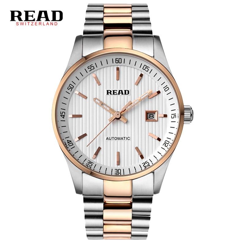 Automatic mechanical watches men s 2016 brand READ new Men s fashion wristwatches Waterproof sports watch