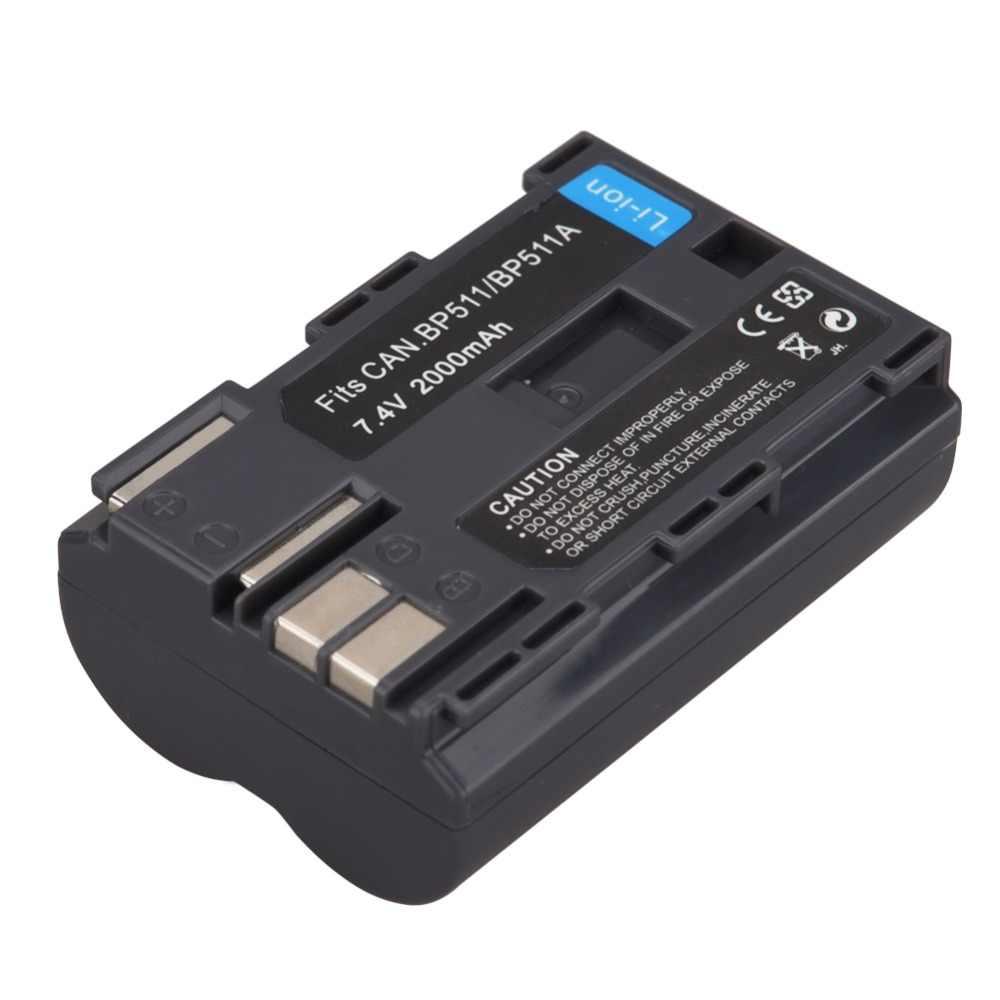 1 Pz 2000 mAh BP-BP511A Batteria Della Fotocamera Digitale Per Canon EOS 40D 300D 5D 20D 30D 50D 10D D60 G6 Batterie