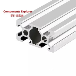 Произвольная резка 1000 мм 2040 алюминиевый экструзионный профиль, серебристого цвета.