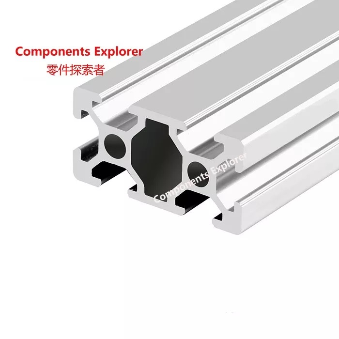 Arbitrary Cutting 1000mm 2040 Aluminum Extrusion Profile,Silvery Color.