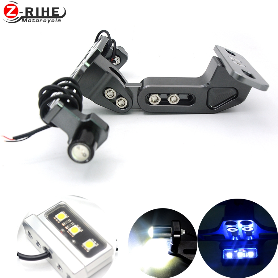 Motorcycle accessories Universal License Plate Bracket Holder & Turn Light Tail for bmw ktm suzuki Kawasaki z750 z1000 z900 z300 motorcycle tail tidy fender eliminator registration license plate holder bracket led light for ducati panigale 899 free shipping