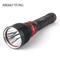 Marca Novo DX1 CREE XM-L XML XM-L2 15 W 2000LM Liga de Alumínio Impermeável LED Lanterna Mergulho Submarino Lamp Torch Flash luz