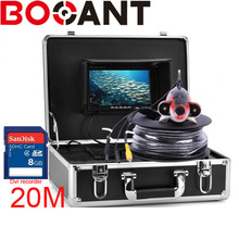 Original 20m-50m  7″ Video Fish Finder 1000TVL Underwater Fishing DVR Camera Kit With Video Recording Function White LED