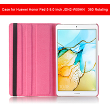 360 Rotating PU Leather case for Huawei Honor Pad 5 8.0 Inch JDN2-W09HN tablet case cover 8