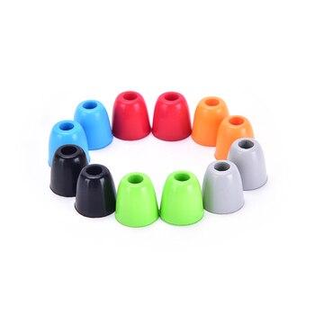 New 4pcs/2pair Memory Foam Headphone Ear Pads Eartips Earplug Sponge Ear Cups Headset Bud Tips In-Ear Earphone Earbuds