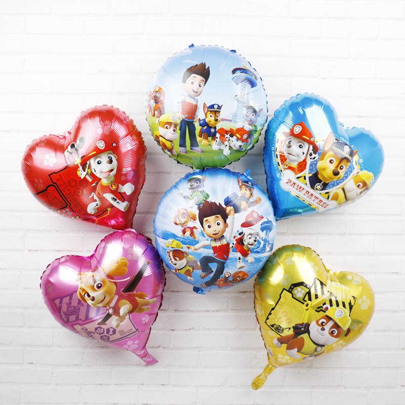 Paw Patrol Dog Aluminum Balloons 18inch Authorized Paw Patrol Birthday Party Decorations Kids Toy 30pcs Marshall Helium Globos Щенячий патруль