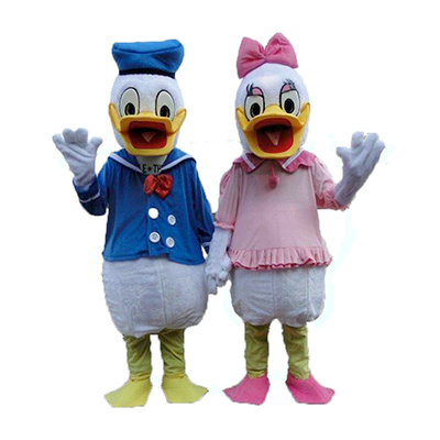 Adult One pair of Donald Duck and Daisy Mascot Costumes Free Shipping Donald Duck mascot costumes for adults Daisy costumes