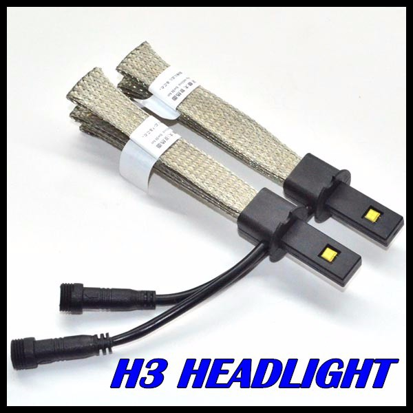 New Design H3 H1 LED headlight cree chips fog lamp Auto led headlight H3 H1 for all vehicles H3 LED headlight 40W 5000LM