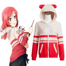 Anime Love Live! Hoodies Animal Cosplay Costume Nishikino Maki Cosplay Costumes Sweatshirt Casual Coat все цены