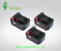 3pcs Spare 4000mAh 18V Lithium Ion Rechargeable Power Tool Battery Replacement For Milwaukee M18 XC 48