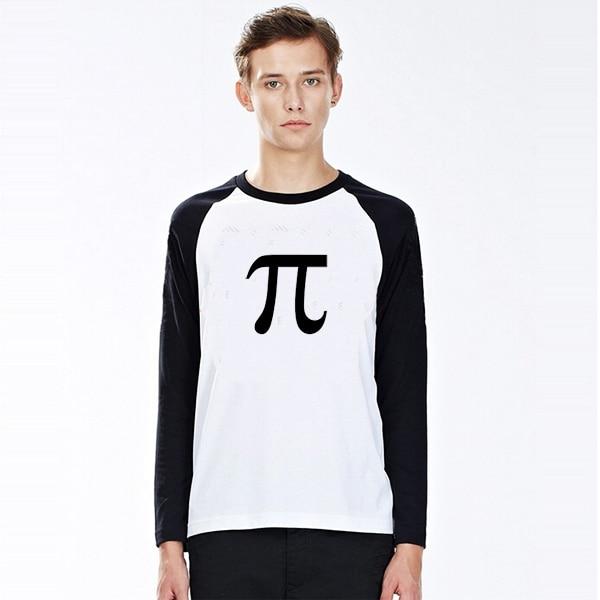 070fc206f Nerd Guy Wear Math Pi Sign Print Men T Shirts Male Raglan Long Sleeve T- shirt Man Tee Boy Clothes Gift To Good Study Student