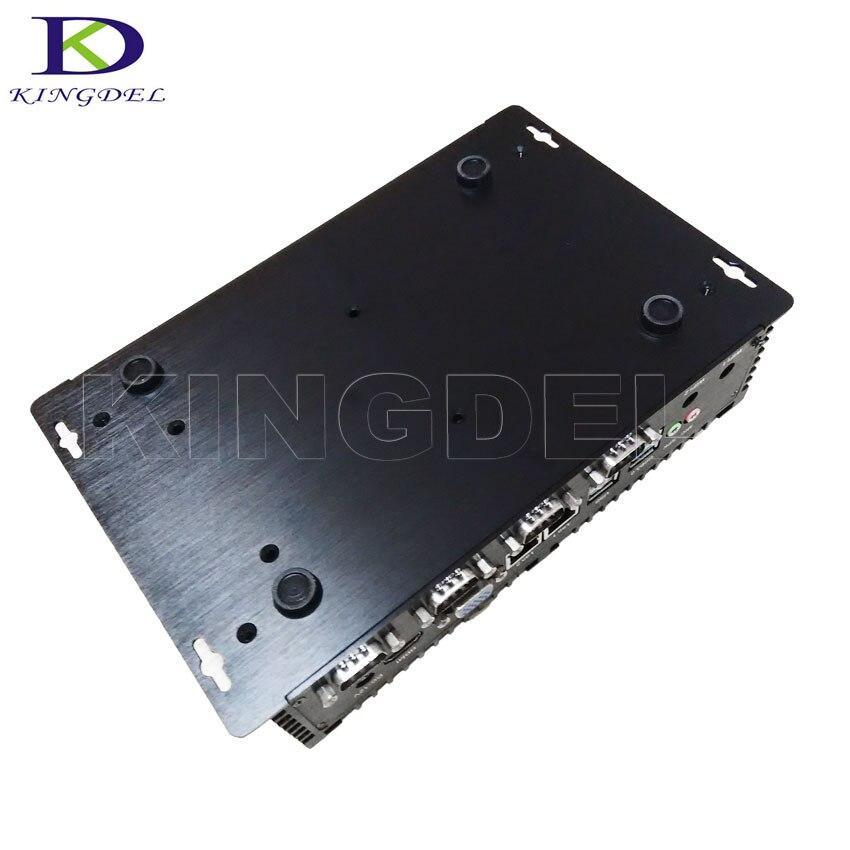 Best цена Dual LAN Мини-ПК Оконные рамы 10 DUAL NIC безвентиляторный Comptuer RS232 COM Порты и разъёмы Core i3 Промышленные ПК nc250
