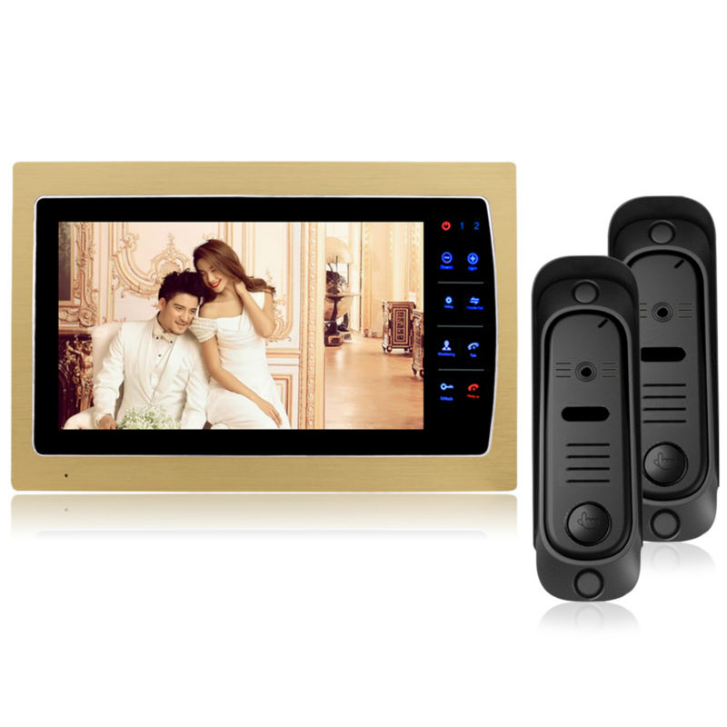 Homefong  7 inch Color Monitor Video Door Phone Door Bell Intercom System IR Camera 800 x 480 Resolution with OSD Menu 10 inch tft color video door phone intercom entry system black color video door bell monitor without outdoor camera high quality