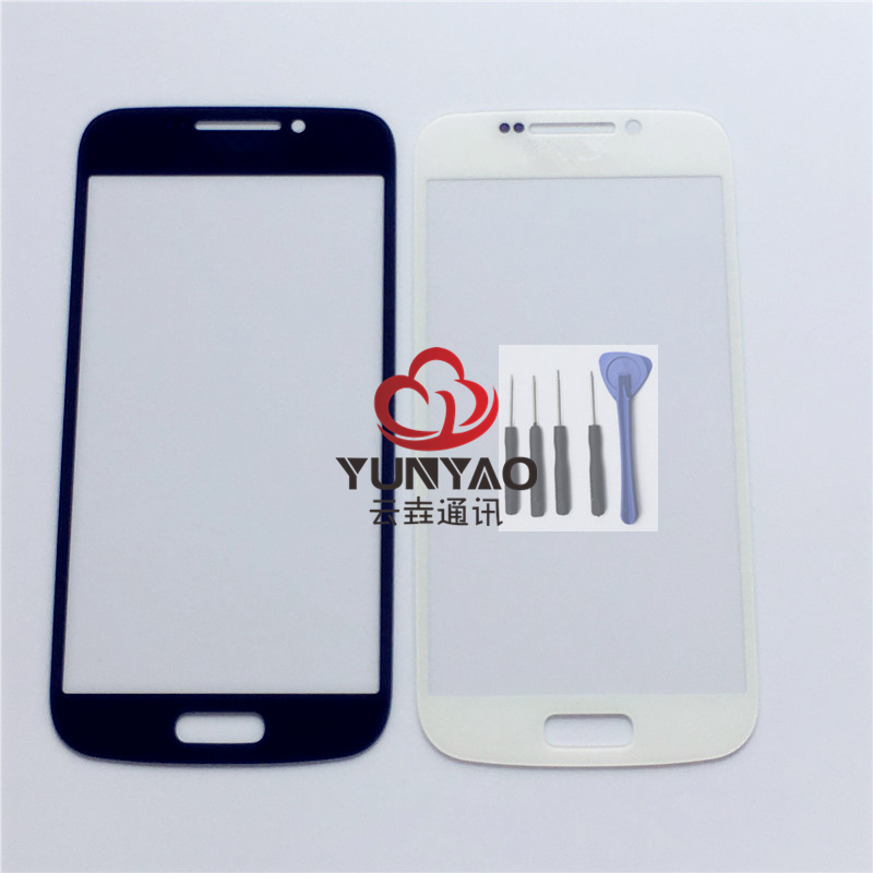 New Outer LCD Front Screen Glass Lens Cover Replacement Parts For Samsung Galaxy S4 Zoom C101 Touch Screen