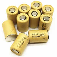 8/10/12/15PCS 4/5SC 1.2V rechargeable battery 1200mAh 4/5 SC Sub C Ni-CD nicd cell for electric drill screwdri