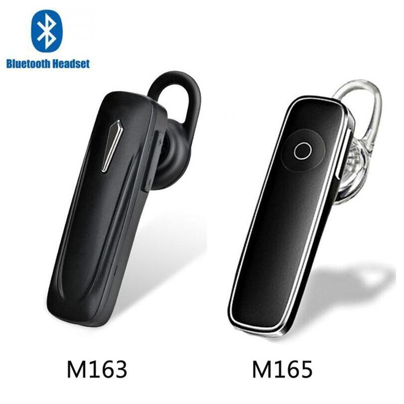 50pcs M163 M165 Bluetooth Earphone Wireless Headset Earbuds Handsfree Bluetooth 4 0 Earpiece Stereo With Mic