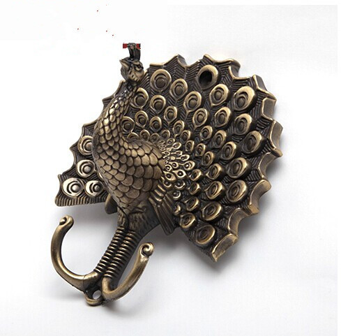 free shipping High quality bathroom kitchen washroom wall door back  single hook antique brass  cloths cap bag Key hooks 239 free shipping wall mounted brass door stopper suitable for interior doors door holders for sale high suction 356g