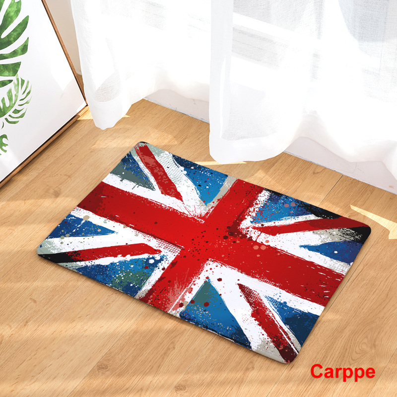 Image 3 - CAMMITEVER United States England Brazil Flag Non slip Mat Foyer Foot Carpet Rug Household Kitchen Door Pad Fashion Rugs-in Rug from Home & Garden