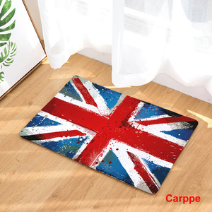 Image 3 - CAMMITEVER United States England Brazil Flag Non slip Mat Foyer Foot Carpet Rug Household Kitchen Door Pad Fashion Rugs