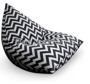 Bean Bag Chair Covers Poker Table Chairs New Pattern Outdoor And Indoor Cover Comfort Beanbag Zigzag Chevron Free Shipping