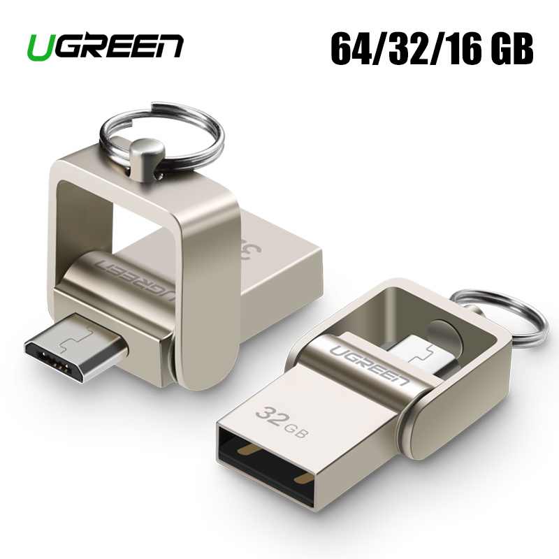 Ugreen USB Flash Drive Micro USB OTG Pendrive 64 32 GB For Xiaomi Redmi Note 5 Redmi 5 Plus 4X Telefon Minne Stick Card USB Flash
