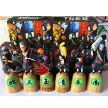 цена Full Set Naruto Shippuden Kakuzu Hidan Uchiha Itachi Hoshigaki Kisame Deidara Tobi Akatsuki Pain Action Figure Collection Model онлайн в 2017 году