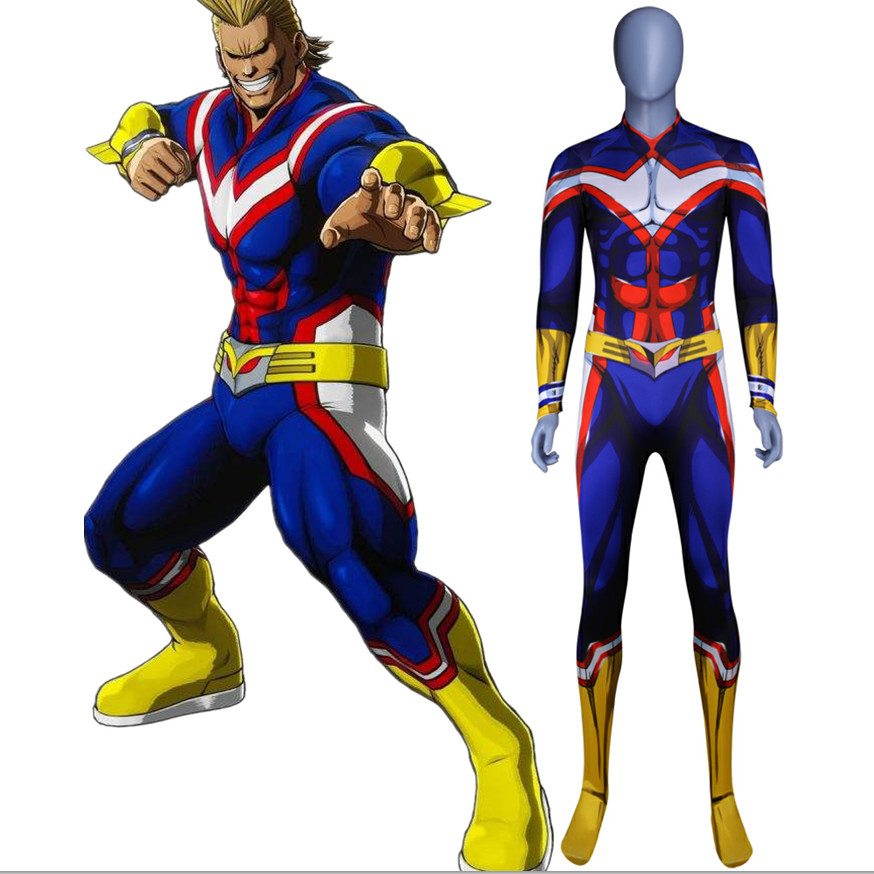 My Hero Academia All·Might 3D Muscle Jumpsuit Men /& Women Cosplay Tight Suit