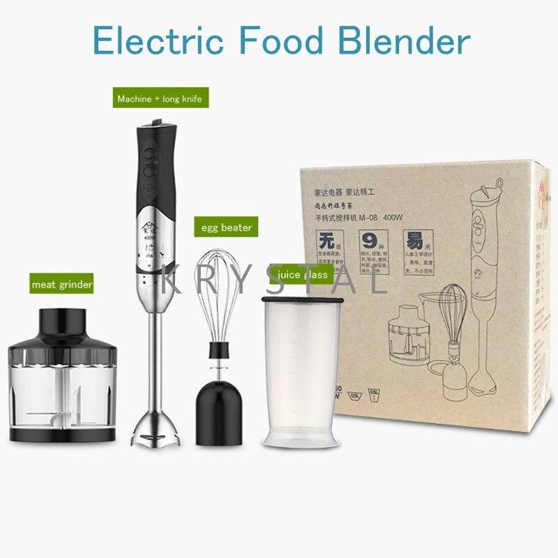 Mélangeur de nourriture électrique 400 W robot culinaire multifonction en acier inoxydable hachoir à viande fruits lait mélangeur M-08