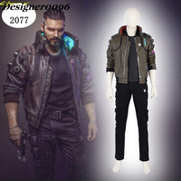 2018 New Game cyberpunk 2077 game cosplay costume same leather jacket cos 1:1 Halloween man woman PU shirt Can be customized