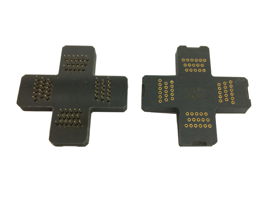 QFP48 LQFP48 TQFP48 Pin Board Pitch 0.5mm Interposer Board Pin Adapter Plate For QFP48 Clamshell Test Socket stm32f051c8t6 qfp48