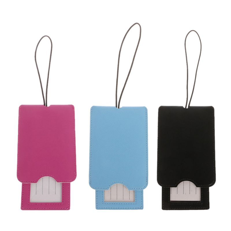Creative Leather Luggage Tags Labels Strap Name Address ID Suitcase Bag Baggage Travel  Creative Leather Luggage Tags Labels Strap Name Address ID Suitcase Bag Baggage Travel