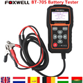 DHL Free Shipping Foxwell BT705 BT-705 12 Volt Battery Analyzer Tester Directly Detect Bad Car Cell Battery Tester