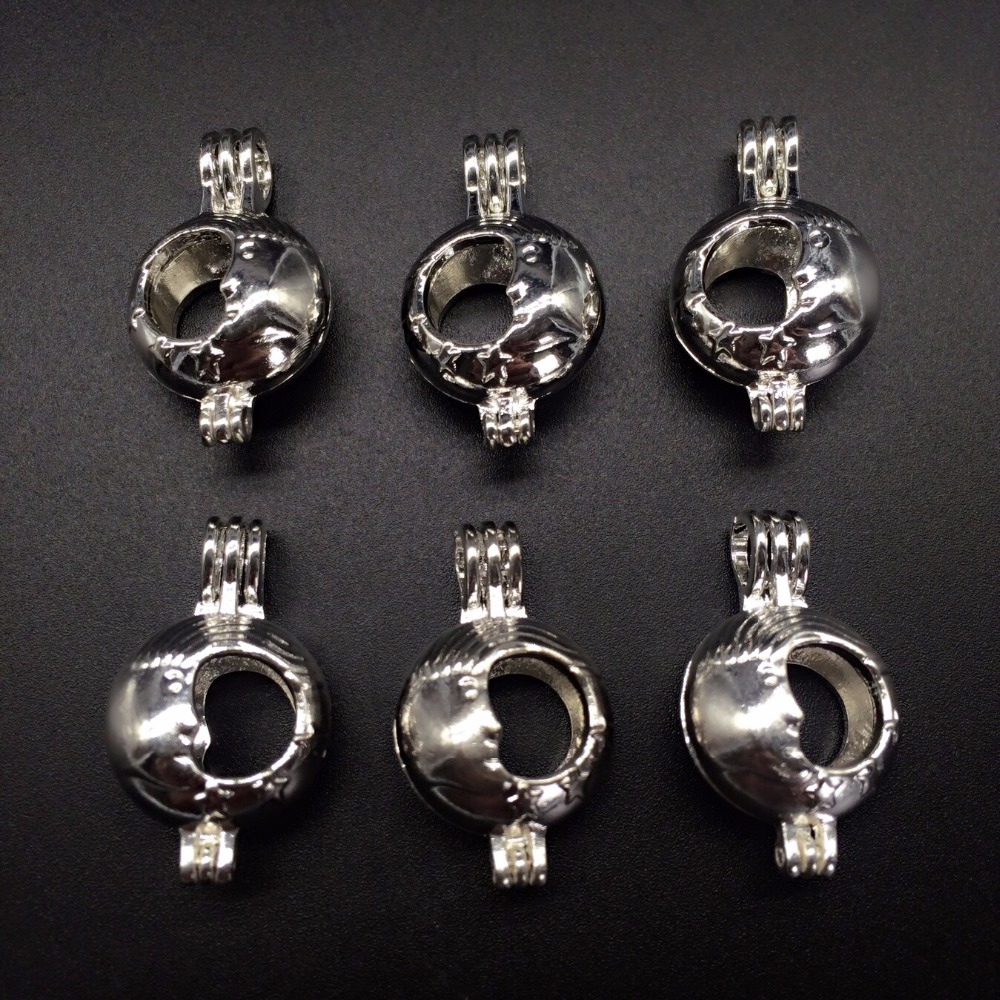 10pcs bright silver crescent moon pearl cage jewelry making supplies if you have any questionpls feel free to contact me aloadofball Gallery