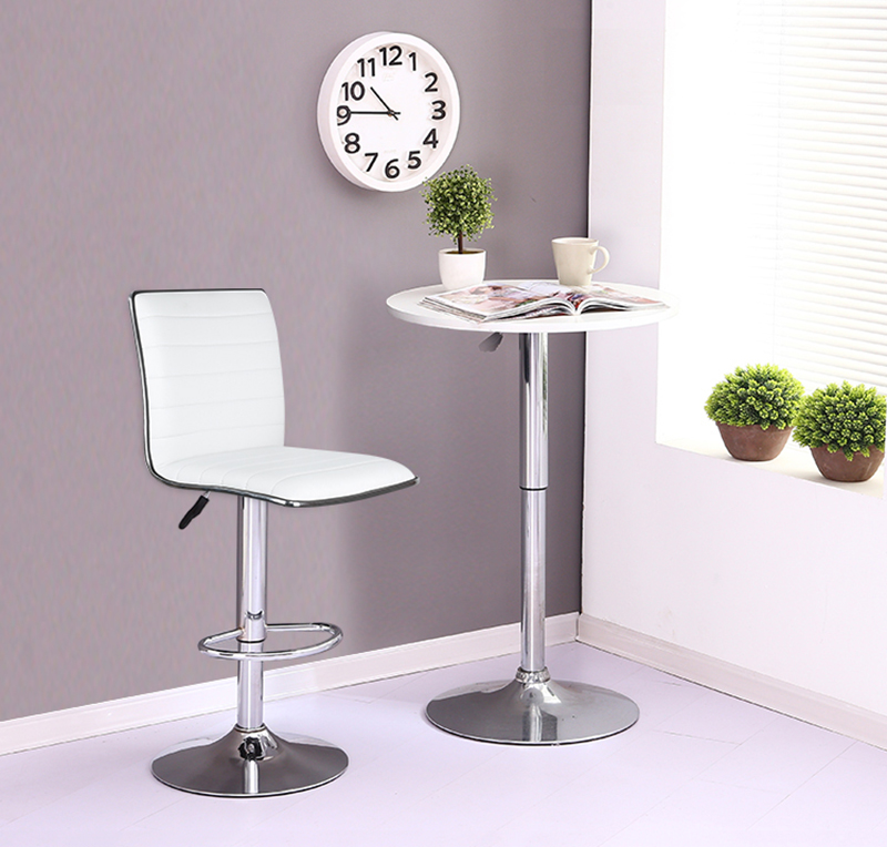 JEOBEST 2PCS/Set European Style Bar Chair PU Leather Swivel Bar Stool Height Adjustable Kitchen Counter Pub Chair Freeship HWC