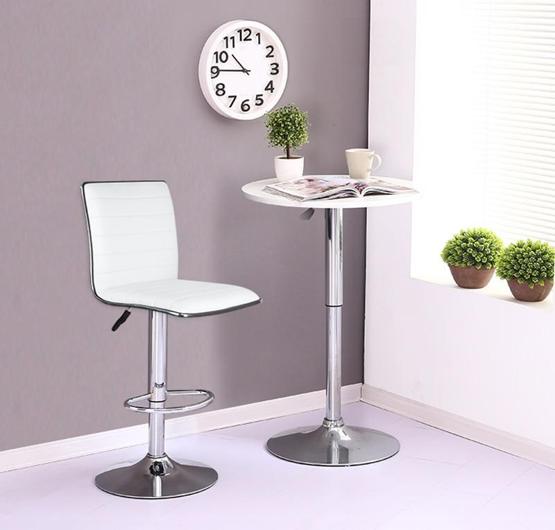 JEOBEST 2PCS/Set European Style Bar Chair PU Leather Swivel Bar Stool Height Adjustable Kitchen Counter Pub Chair Freeship HWC