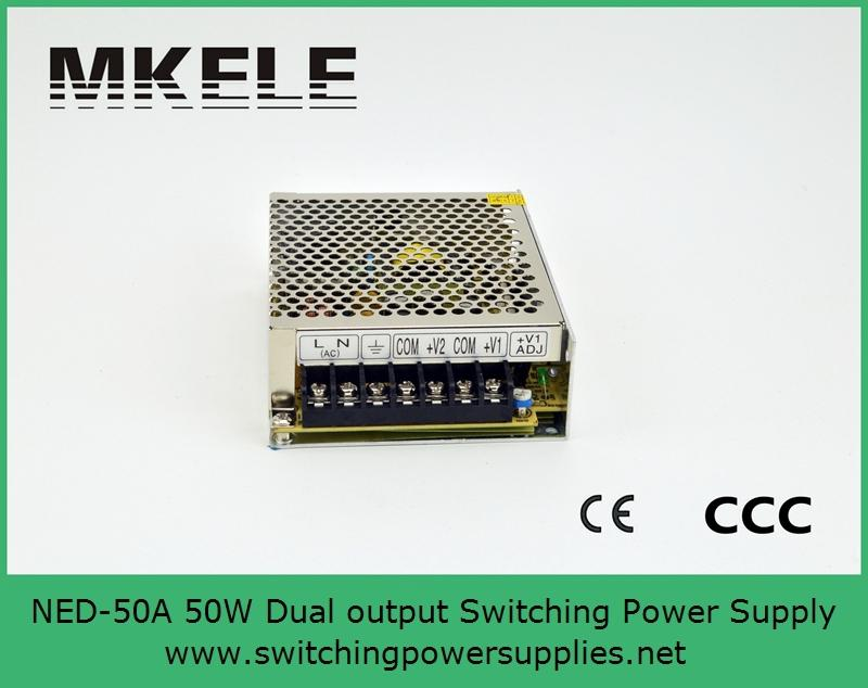Hot sale 2016 New product 50W 5V 12V dual output Switching Power Supply NED-50A with wide range input 110V/220VAC best new product on sale 30