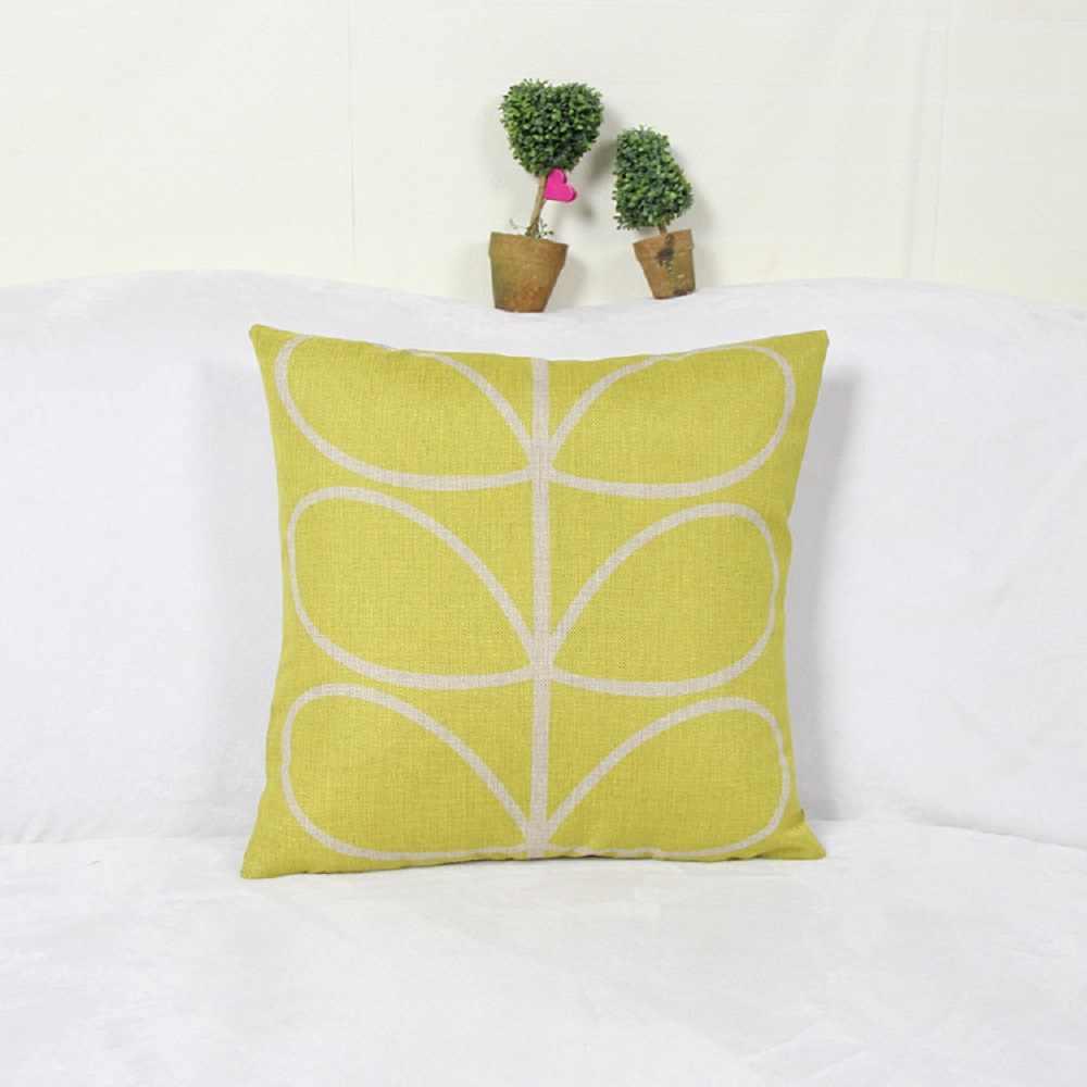 Funda de almohada cuadrada, funda de cojín cuadrada de lino y algodón, funda de almohada cuadrada para decoración de cama y sofá para el hogar de 45x45cm, 1 Uds