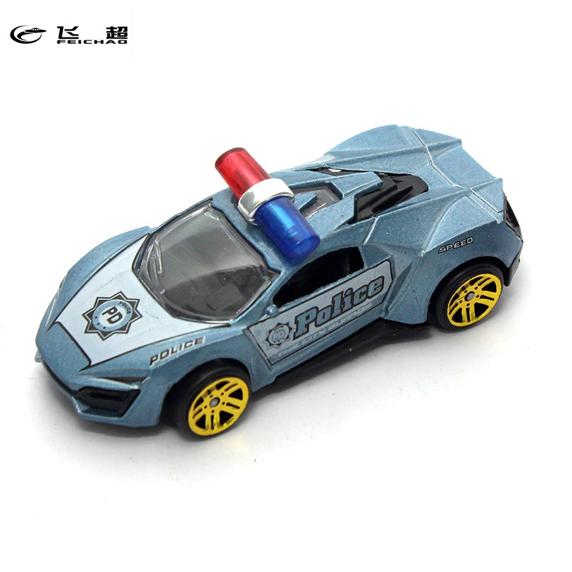 1X Feichao 1:50 Alloy Toy Car Sliding Police Version Mini Colorful  Vehicle Car Metal Toy Car For Children  Kids Birthday Days