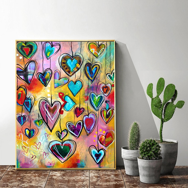 HUACAN DIY 5D Diamond Painting Love Heart Full Square Diamond Mosaic Embroidery Sale Picture Of Rhinestones