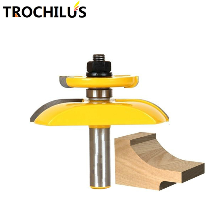 High quality 1/2-inch convex panel milling cutters cnc Router drill / wood cutter Carbide Woodworking tools end mill high quality wood milling cutter biscuit jointing router bit carbide tipped 1 2 shank woodworking router bits carbide end mill