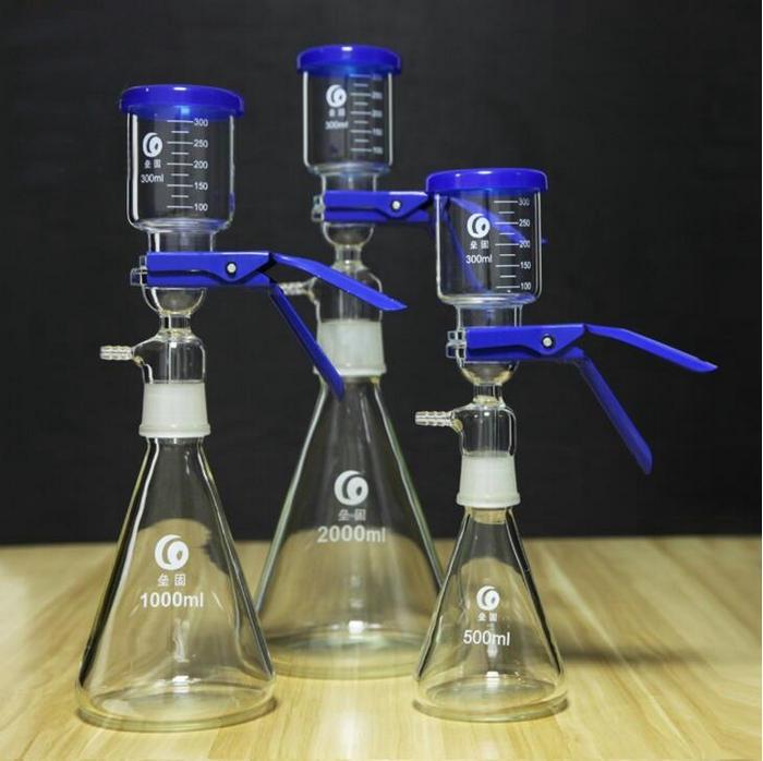 1 pcs 500 ml 1000 ml 2000 ml 5000 ml copo de Vidro A Vácuo Dispositivo de Sucção do Filtro do Núcleo De Areia Unidade de Filtração de Solventes Dispositivo de Filtração do filtro