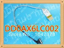 Оригинальные ноутбук жк-видео кабель для hp compaq g56 g62 cq42 cq62 жк-видео шлейф p/n: dd0ax6lc001 dd0ax6lc002