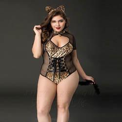 Пикантные Большие размеры женские популярные Бенгальская кошка леди кролика для девочек сексуальные костюмы белье для взрослых Порно