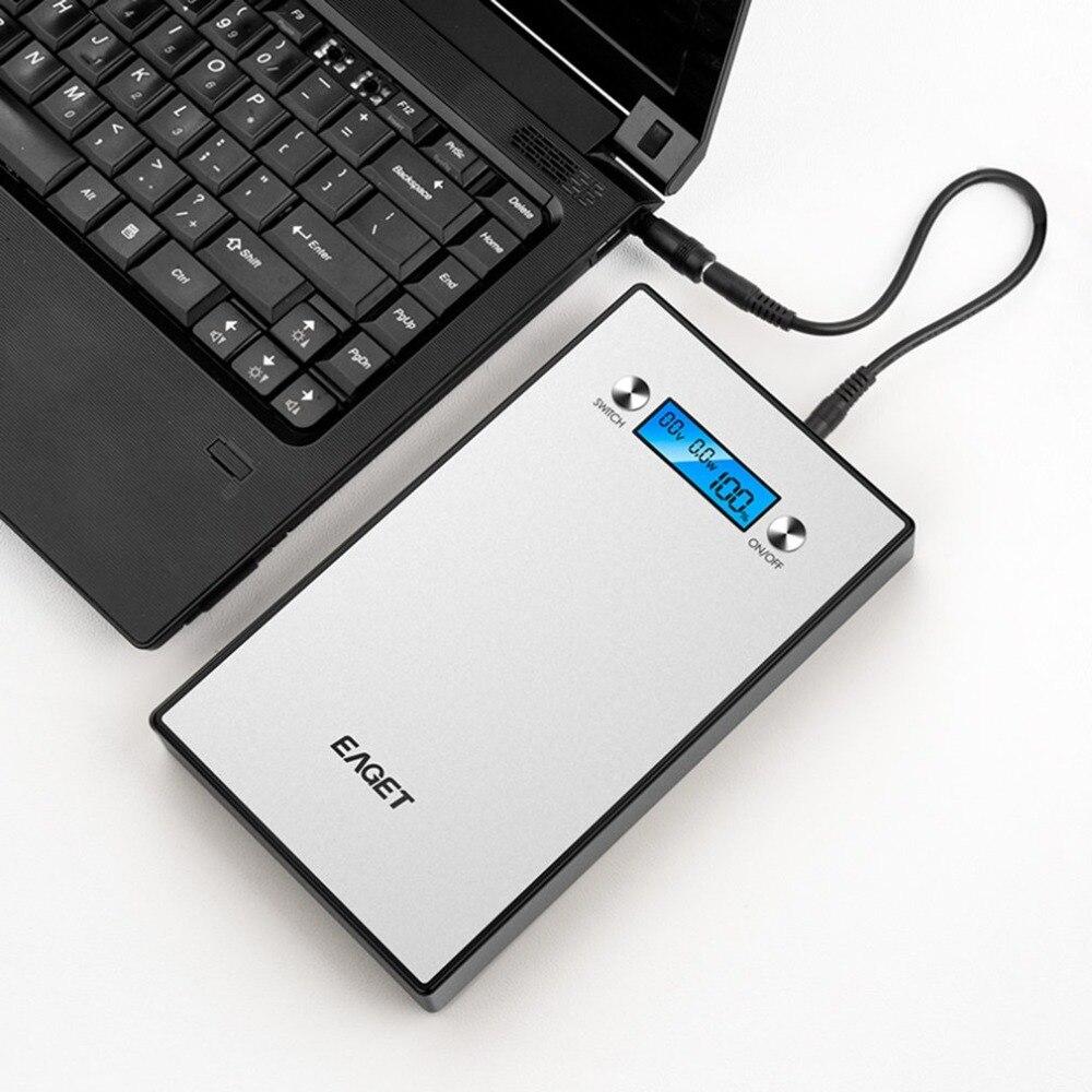Eaget PT98 40000 мАч Мощность Bank ноутбука планшетного внешний Батарея резервного копирования Портативный для мобильных телефонов прочного алюмин