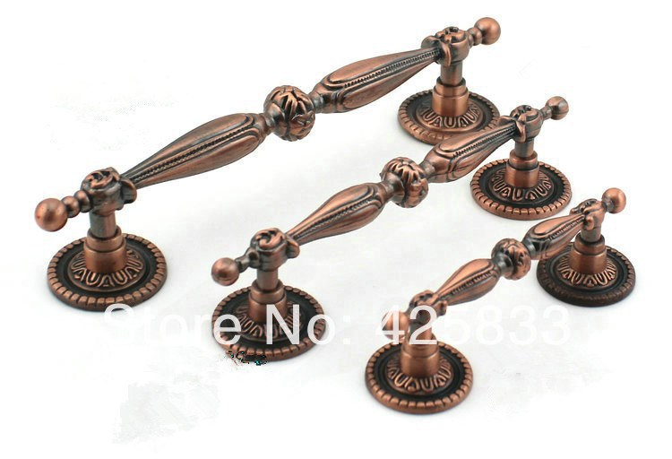 2pcs 128mm Red Bronze Decorative Knobs Antique Kitchen